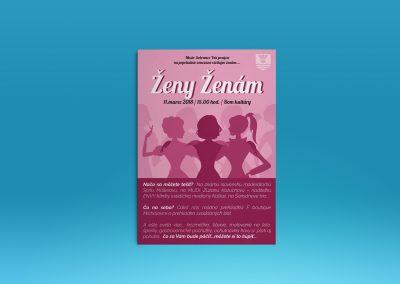 Tvorba plagátu pre podujatia Ženy ženám
