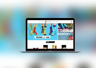 Vytvorenie modernej webstránky a eshopu pre  HestySocks - redizajn webu