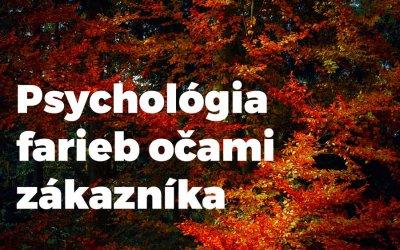 Psychológia farieb očami zákazníka